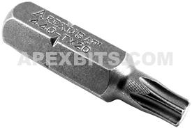 440-TX-20X Apex 1/4'' Torx Hex Insert Bits