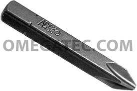 APEX 480-24X #2 Phillips Insert Bits, 5/16'' Hex Drive