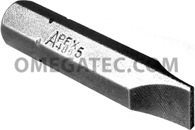 485-5X Apex 5/16'' Slotted Hex Insert Bits