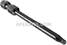 49-A-TX-10-H 1/4'' Apex Brand Torx Power Drive Bits, Tamper Resistant