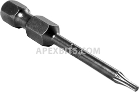 APEX 49-TX-06 T-06 Torx Power Drive Bits, 1/4'' Hex Drive