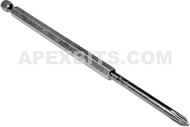491-CX 1/4'' Apex Brand Phillips Head #1 Power Drive Bits