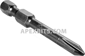 491X 1/4'' Apex Brand Phillips Head #1 Power Drive Bits