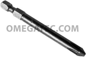 APEX 492-A-PZDX #2 Pozidriv Power Drive Bits, 1/4'' Hex Drive