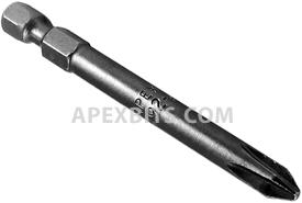492-AR 1/4'' Apex Brand Phillips Head #2 Power Drive Bits