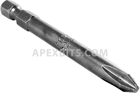 492-AX 1/4'' Apex Brand Phillips Head #2 Power Drive Bits