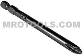 492-B-ACR2-DX 1/4'' Apex Brand Phillips Head #2 Power Drive Bits, ACR