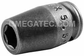 5.5MM11 Apex 5.5mm Metric Long Socket, 1/4'' Square Drive