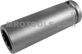 5324-D Apex 3/4'' 12-Point Extra Long Socket, 1/2'' Square Drive