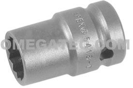 5418-D Apex 9/16'' 12-Point Thin Wall Standard Socket, 1/2'' Square Drive