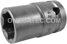 APEX 5420 5/8'' Standard Impact Socket, Thin Wall, 1/2'' Square Drive