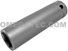 APEX 5522 11/16'' Extra Long Socket, Thin Wall, 1/2'' Square Drive