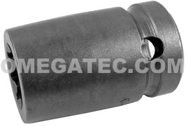 APEX 5614-D 7/16'' Standard Impact Socket, For Double Square Nuts, 1/2'' Square Drive
