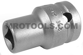 APEX 5912 3/8'' Standard Impact Socket, Thin Wall, For Single Square Nuts, 1/2'' Square Drive