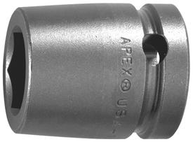 APEX 7154-D 11/16'' Standard Impact Socket, 3/4'' Square Drive