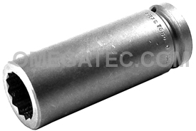 7330-D Apex 15/16'' 12-Point Extra Long Socket, 3/4'' Square Drive