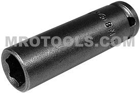 8MM21 Apex 8mm Metric Long Socket, 1/4'' Square Drive