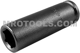9MM21 Apex 9mm Metric Long Socket, 1/4'' Square Drive