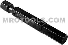APEX AM-07 7/32'' Socket Head Power Drive Bits, 1/4'' Hex Drive