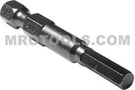 AM-4MM 1/4'' Apex Brand Socket Head (Hex-Allen) Power Drive Bits, Metric