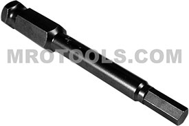 APEX AN-07 7/32'' Socket Head Power Drive Bits, 7/16'' Hex Drive