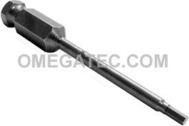AN-3MM 7/16'' Apex Brand Socket Head (Hex-Allen) Power Drive Bits, Metric