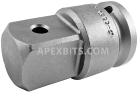 APEX EX-1000 Straight Adapter, 3/4'' Square Drive, 9/32'' Drill Hole Lock