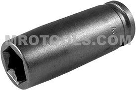 APEX FL-3214 7/16'' Long Impact Socket, Fast Lead, 3/8'' Square Drive