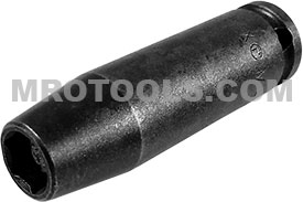 APEX M-1208 1/4'' Long Impact Socket, Magnetic, 1/4'' Square Drive