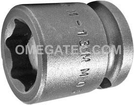 M-13MM03 Apex 13mm Magnetic Metric Short Socket, 3/8'' Square Drive