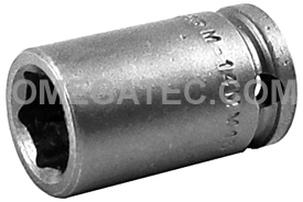 APEX M-14MM13 14mm Standard Impact Socket, Magnetic, 3/8'' Square Drive