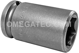 M-15MM13 Apex 15mm Magnetic Metric Standard Socket, 3/8'' Square Drive
