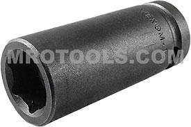 APEX M-15MM25 15mm Long Impact Socket, Magnetic, 1/2'' Square Drive