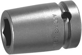 APEX M-21MM15 21mm Standard Impact Socket, Magnetic, 1/2'' Square Drive