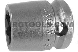 M-3014 Apex 7/16'' Magnetic Short Socket, 3/8'' Square Drive