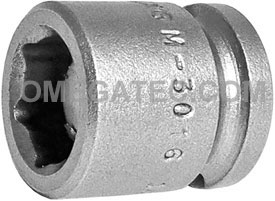 M-3016 Apex 1/2'' Magnetic Short Socket, 3/8'' Square Drive