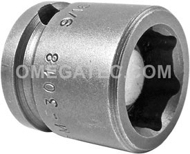 M-3018 Apex 9/16'' Magnetic Short Socket, 3/8'' Square Drive