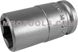 APEX M-3418 9/16'' Standard Impact Socket, Magnetic, Thin Wall, 3/8'' Square Drive