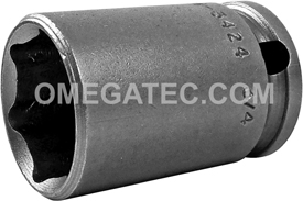 APEX M-3424 3/4'' Standard Impact Socket, Magnetic, Thin Wall, 3/8'' Square Drive
