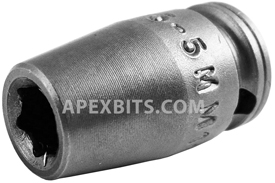 M-5.5MM11 Apex 5.5mm Magnetic Metric Standard Socket, 1/4'' Square Drive