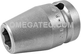 M-5112 Apex 3/8'' Magnetic Standard Socket, 1/2'' Square Drive