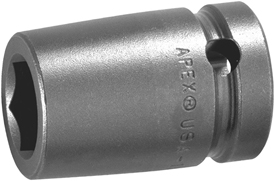 M-5114 Apex 7/16'' Magnetic Standard Socket, 1/2'' Square Drive