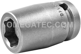 M-5116 Apex 1/2'' Magnetic Standard Socket, 1/2'' Square Drive