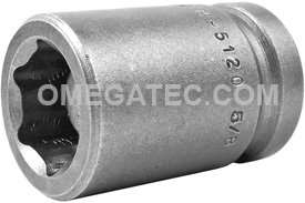 M-5120 Apex 3/4'' Magnetic Standard Socket, 1/2'' Square Drive