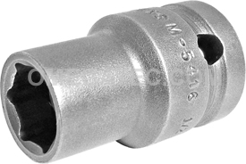 M-5416 Apex 1/2'' Magnetic Thin Wall Standard Socket, 1/2'' Square Drive