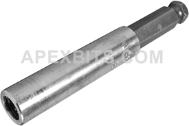 M-630 5/16'' Apex Brand Power Drive Bit Holder, For 1/4'' Insert Bits, Magnetic