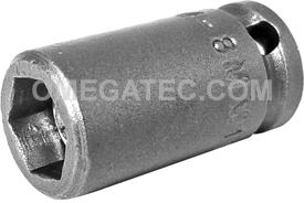 APEX M-8MM11 8mm Standard Impact Socket, Magnetic, 1/4'' Square Drive