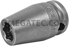 M-8MM13 Apex 8mm Magnetic Metric Standard Socket, 3/8'' Square Drive