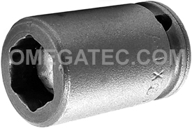 APEX M1E12 3/8'' Impact Socket, Magnetic, For Sheet Metal Screws, Predrilled Holes, 1/4'' Square Drive