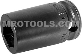 APEX M3E14 7/16'' Impact Socket, For Sheet Metal Screws, Predrilled Holes, Magnetic, 3/8'' Square Drive